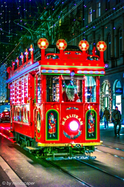 Fairy Tale Tram / Märlitram Zurich - Xmas Time
