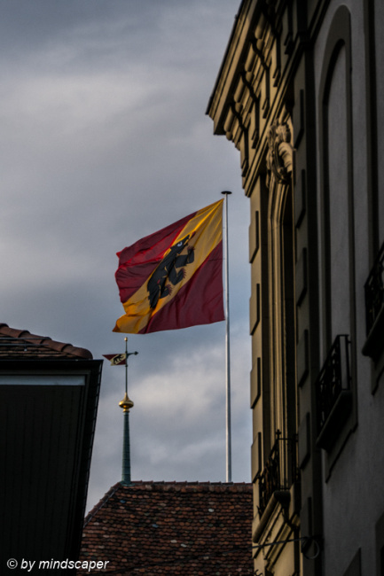 Berne Flag on Top of City Hall