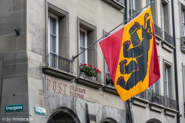 Berne Flag at Kramgass Post