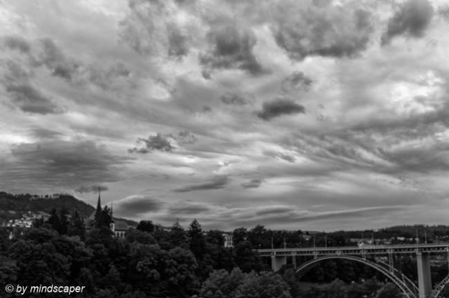 Summer Clouds above KIrchenfeld Bridge