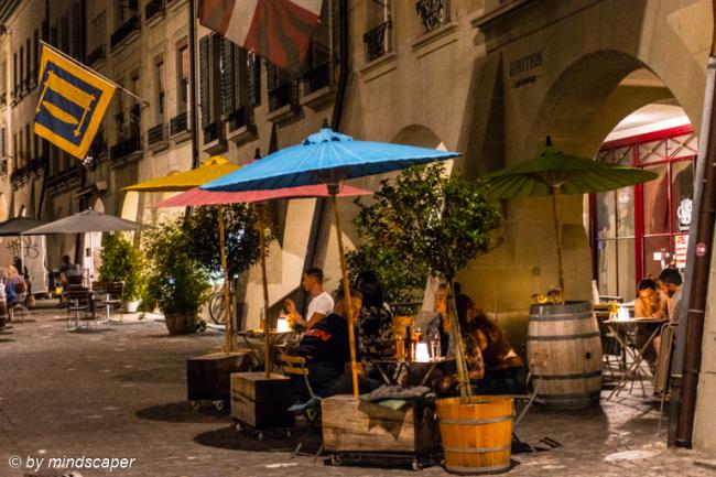 Night Umbrellas at Einsten Cafè