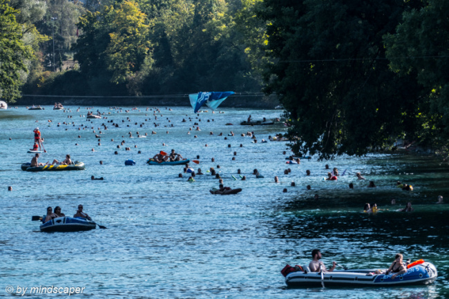 Rush Hour at Aare - Marzili