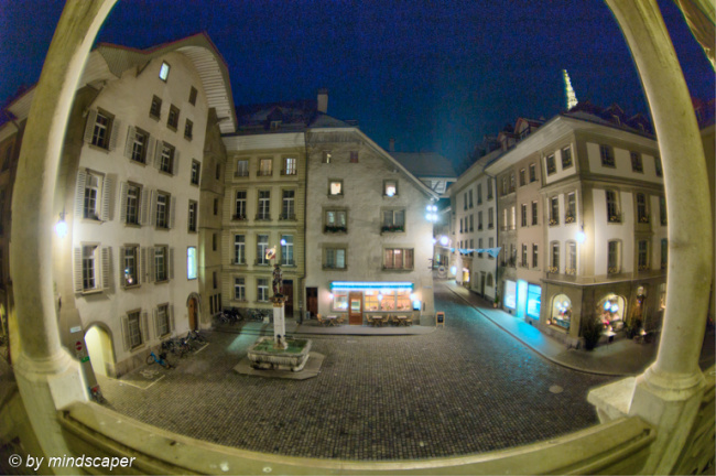 City Hall Square by Night - Fisheye