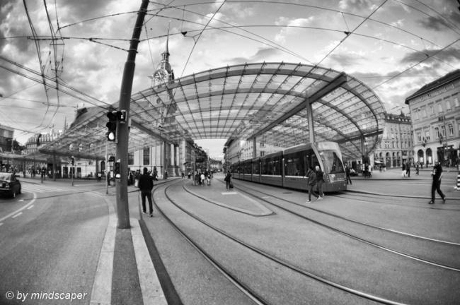 Baldachin Tramway Station - Fisheye