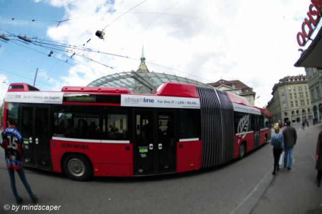 Bus at Central Station - Fisheye