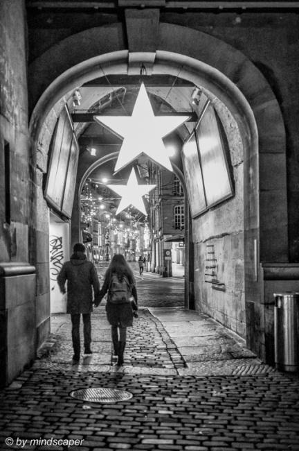Passing Xmas Stars at Zytglogge Gate