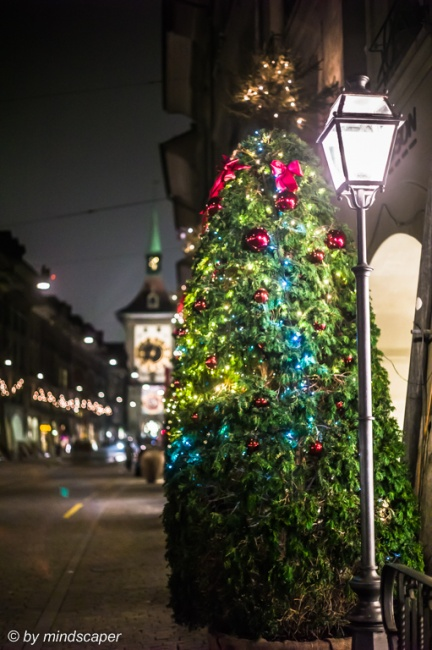 Lantern and Xmastree in Kramgasse