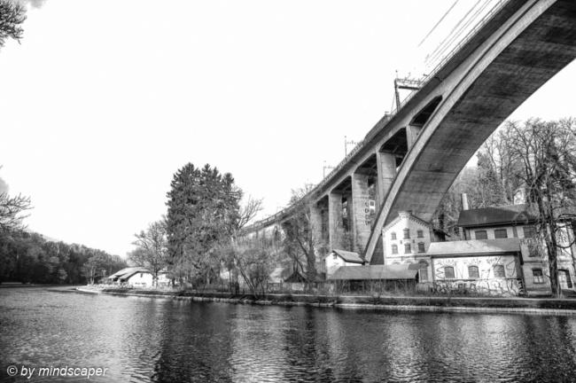 Lorraineviadukt - Berne in Black & White