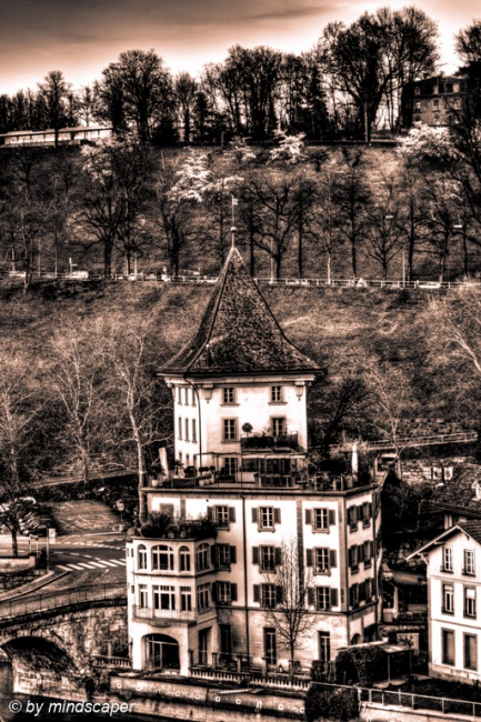 Spring Time at Felsenburg - Black & White HDR