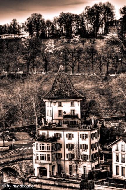 Spring Time at Felsenburg - Black & White HDR