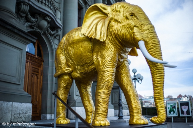 Golden Elephant in Berne