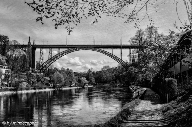 Kornhaus Bridge in Black & White in Spring
